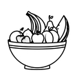 dish with healthy food isolated icon vector image