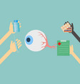 doctors offer treatment for eyes vector image