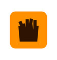fast food fries flat silhouette icon or object vector image