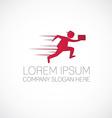 fast running man logo vector image