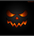 halloween mask face background vector image