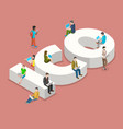 initial coin offering flat isometric vector image