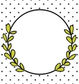 Laurel wreath decorative photo frame with dots vector image