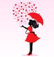 rain of love vector image