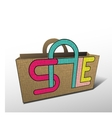 Sale bag for shopping vector image