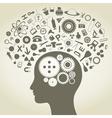 Science head vector image
