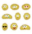 set of cartoon funny emoticons vector image