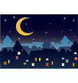 town night star vector image