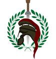 roman helmet and sword vector image vector image