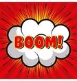 bubble speech boom explosion graphic vector image