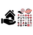 Home Offer Flat Icon with Bonus vector image