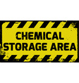 Chemical storage area sign vector image vector image