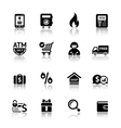 Set shopping icons vector image