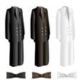 Men suit and necktie set vector image