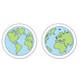 Hand drawn planet earth on white vector image