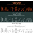 sacramento event banner hand drawn skyline vector image