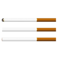 Cigarettes on a white background vector image vector image