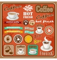 Vintage coffee and tea set icon vector image