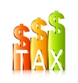 Rising Tax Rate Concept vector image