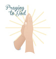 Praying to God design vector image