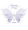 invitation design butterfly vector image vector image