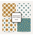 Set of seamless flower patterns vector image