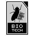 Bio tech emblem vector image