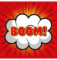 bubble speech boom explosion graphic vector image