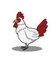 cartoon funny chicken vector image
