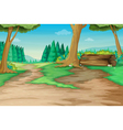 Forest path vector image
