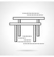 Gymnastic bars flat line icon vector image