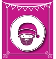 merry christmas frame with santa claus isolated vector image