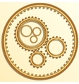 metallic golden gear wheels vector image
