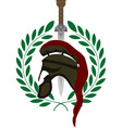roman helmet and sword vector image