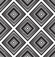 Seamless monochrome ornament squares vector image