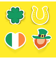 st patrick stickers vector image