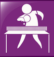 Table tennis icon on purple background vector image