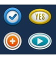 Web buttons set vector image
