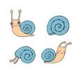A set of cute little snails vector image