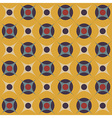 Geometrical pattern in retro colors vector image vector image