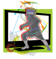 Football game on tv vector image vector image