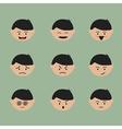 Emotion face cartoon vector image vector image