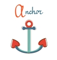A is for anchor vector image vector image