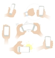 Hands with a smartphone vector image