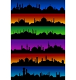 Oriental arabian city skylines with mosques vector image vector image