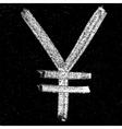 Yen signs on chalkboard vector image