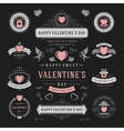 Valentines Day Labels and Cards Set Heart Icons vector image