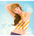 Sexy girl at summer vector image
