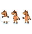 Brown Horse Mascot happy vector image