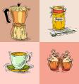 coffee elements set vector image